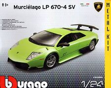 MURCIELAGO LP 670-4 SV DIE-CAST METAL MODEL CAR KIT by BURAGO SCALE 1:24 ~ NEW