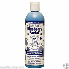SOUTH BARK'S Blue Berry Facial 355ml for Dog Cat Pet Grooming, Tearless, Shampoo