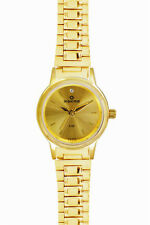 MAXIMA Analog Gold Plated Chain Watch for Womens 26790CMLY