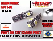501 X2 Canbus Error Free 5 LED Xenon White Sidelights VW GOLF MK 5