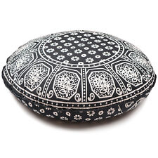 Black & White Throw Decorative Floor Pillow Cushion Cover Case Mandala- 32""