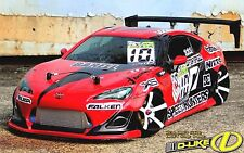 D-Like 1/10 RC TOYOTA 86 ZN6 F198mm R200mm Clear Body Drift Pandora Yokomo