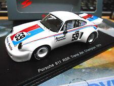 PORSCHE 911 RSR Carrera Brumos Trans Am Champion Gregg 1974 #59 Spark Resin 1:43