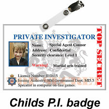 Novelty ID Card, Detective Stage Prop, Private Investigator ID Badge Quality PVC