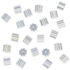 50 Pcs Clear Plastic Bullet Clutch Earrings Back Stoppers T1