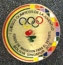 Singapore 2010 rare YOG Olympic BOLIVIA mascots NOC pin