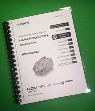 COLOR PRINTED Sony Video Camera HDR HC5 HC7 Manual User Guide 131 Pages