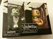 "Disney Vinylmation Spooky 2 Series Set 3"" Goofy & Pluto New in Box Halloween"