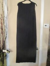 PRETTY EILEEN FISHER BLACK WOOL LONG TANK DRESS, SZ L  LQQK!