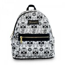 Loungefly Black/White Sugar Skull Mini Faux Leather Backpack  (SALE!)