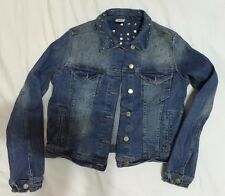ZARA Basic Studded Spiked Denim Jean Jacket  XL  rare premium vtg nic fashion