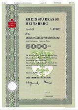 Kreissparkasse Heinsberg IHS Bank Anleihe 1992 Erkelenz Sparkasse NRW Wappen y