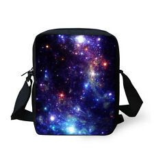 Women's Galaxy Design Messenger Sling Cross Body Shoulder Bag Handbag Purse Men