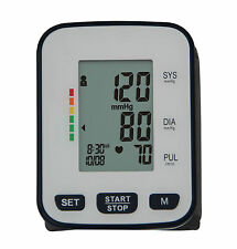 WRIST BLOOD PRESSURE MONITOR DIGITAL DISPLAY WITH LATEX FREE CUFF UK VAT REG