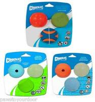 Chuckit Dog Toy Fetch Medley Pack 3 Balls Choose from Whistler Max Glow Squeaker