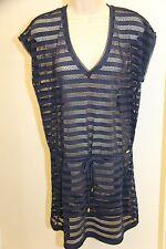 NWT Calvin Klein Swimwear Bikini Cover Up Dress Size L XL Navy