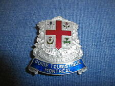 Vintage 1976 Montreal Coat of Arms Official Tourist Guide Pewter & Enamel Badge