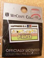 2014 Peanuts Happiness is a MLB Game pin Pittsburgh Pirates Snoopy Charlie Brown