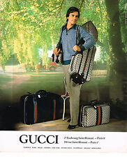 PUBLICITE ADVERTISING 045 1978  GUCCI  bagages valises