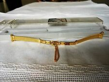 VOGUESTRAP Vintage Gold Tone Ladies Butterfly Clasp Adjustable Watch Strap - New