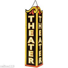 "VERTICLE VINTAGE HOME THEATER DECOR  ""THEATER METAL ART""  ENTERTAINMENT ROOM"