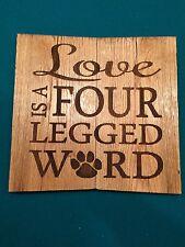 Laser engraved Pet, Dog Cat Sign Love House Warming plaque Gift allet wood