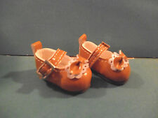Monchhichi S MCC bjd Doll Taeyang Doll Shoes Tan with Bows