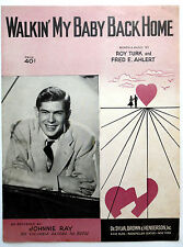 JOHNNIE RAY Sheet Music WALKIN' MY BABY BACK HOME Traditional POP VOCAL Rock
