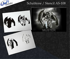 Step by Step Airbrush Stencil AS-106 M ~ Template ~ UMR-Design