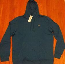 Mens Authentic Lacoste Pullover Lightweight Hoodie/Hooded T-Shirt Blue 6 XL