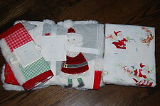 NWT Pottery Barn Kids Christmas Quilt, toddler sheets set, sham 5PC