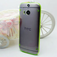 SLIM TPU Clear Silicone Gel Hard Back Bumper Case Cover For HTC One M7 M8 M9