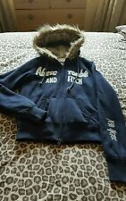 Ladies Navy Abercrombie and Fitch Jacket Size 12 14 XL