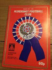 Aldershot v Cambridge United (Littlewoods Cup) 1987-88