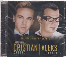 Lo Mejor De Cristian Castro  y Aleks Syntek CD / DVD Edicion De Lujo SEALED !