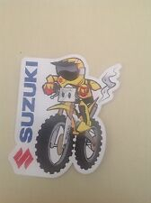 SUZUKI RACING MOTOCROSS  OFFICIAL ITEM STICKER- ATTRACTIVE,THICK PLASTIC COAT,