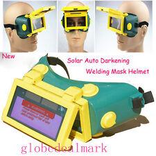 Solar AUTOMATIK Verdunkelung Schweißhelm Schweißmaske Goggle Welder Glasses