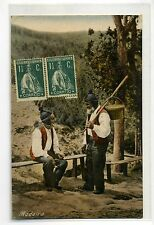 1921 PORTUGAL PC from MADEIRA-Travveled to Italy-f864