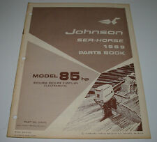 Parts Book Ersatzteilkatalog Johnson Sea Horse Model 85 HP 85ESL69M Electramatic