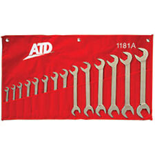 "ATD 4-way Open End Angle Wrench Set SAE 14pc 3/8"" to 1-1/4"" #1181"