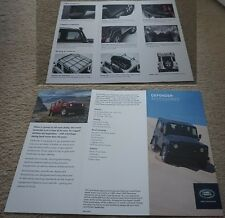2012 2013 Land Rover Defender Accessories Brochure Leaflet The Only One on eBay