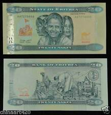 ERITREA Paper Money 20 NAKFA 2012/2014 UNC