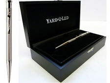 Yard o Led Diplomat Ballpoint Pen, Barley Finish Sterling Silver, Free Engraving