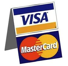 QTY 3 - Visa MasterCard Credit Card Cash Register Display Table Tent Sign Decal