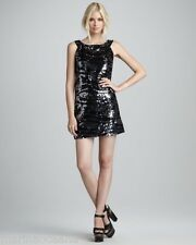 NWT $ 350 RACHEL ZOE BLACK EVENING COCKTAIL PARTY DRESS SIZE M SEQUINED BEADED