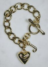 JUICY COUTURE Heart and J Chain Link Charm Bracelet. Nice!