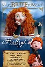 BRAVE MERIDA#2 PRINCESS CUSTOM PRINTABLE BIRTHDAY PARTY INVITATION