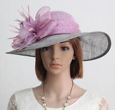 New Sinamay Woman Church Kentucky Derby Wedding Cocktail Party Dress Hat 174809