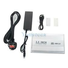 "3.5"" SATA HDD External Case Enclosure 3.5 inch Hard Drive Disk USB 2.0 HK"