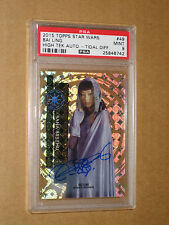 PSA 9 BAI LING BANA BREEMU 2015 STAR WARS HIGH TEK AUTO movie autograph 1 chrome